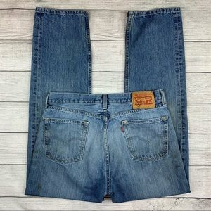 Levi's 505 Distressed Destroyed Stained Blue Jeans